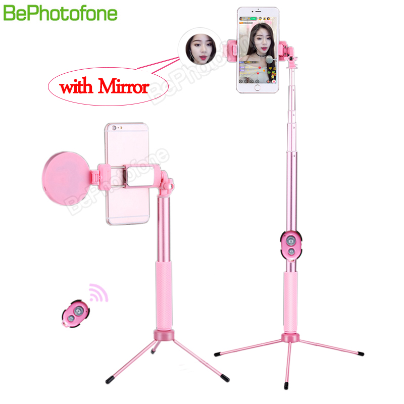1.7m/1.2m Extendable live Tripod Selfie Stick with LED Ring light mirror Stand 4 in 1 Monopod Phone Mount for iPhone X 8 Android1.7m/1.2m Extendable live Tripod Selfie Stick with LED Ring light mirror Stand 4 in 1 Monopod Phone Mount for iPhone X 8 Android