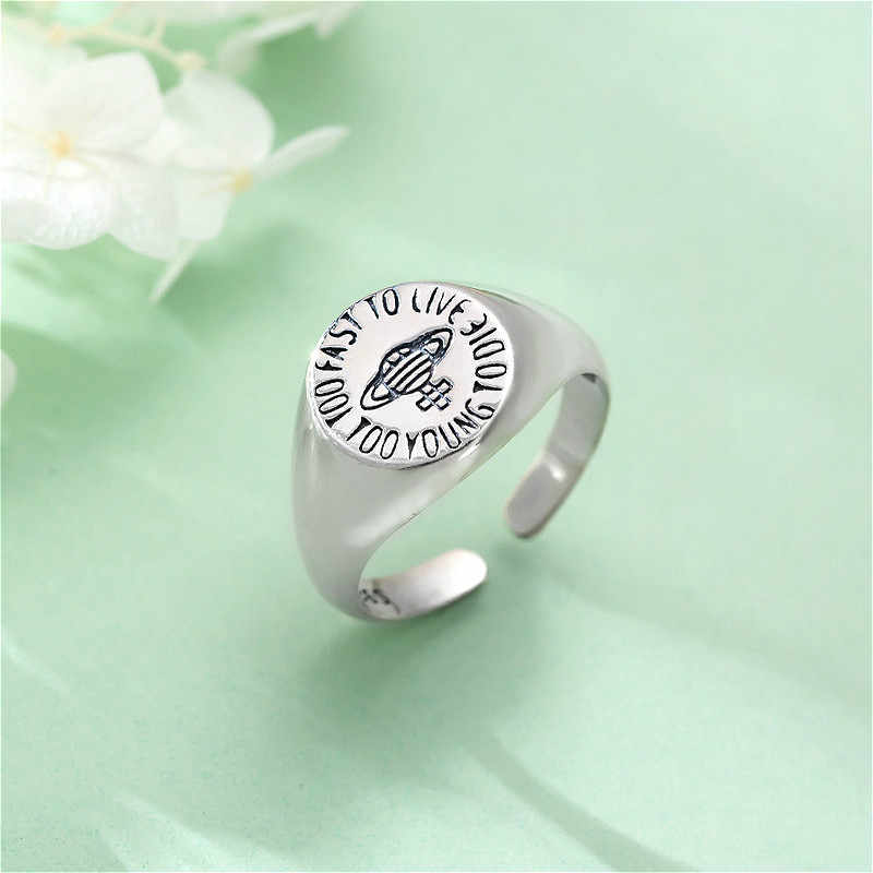 Fengxiaoling New Arrivals S925 Sterling Silver Saturn Open Rings For Women Elegant Jewelry Gift Handmade Bijoux Femme