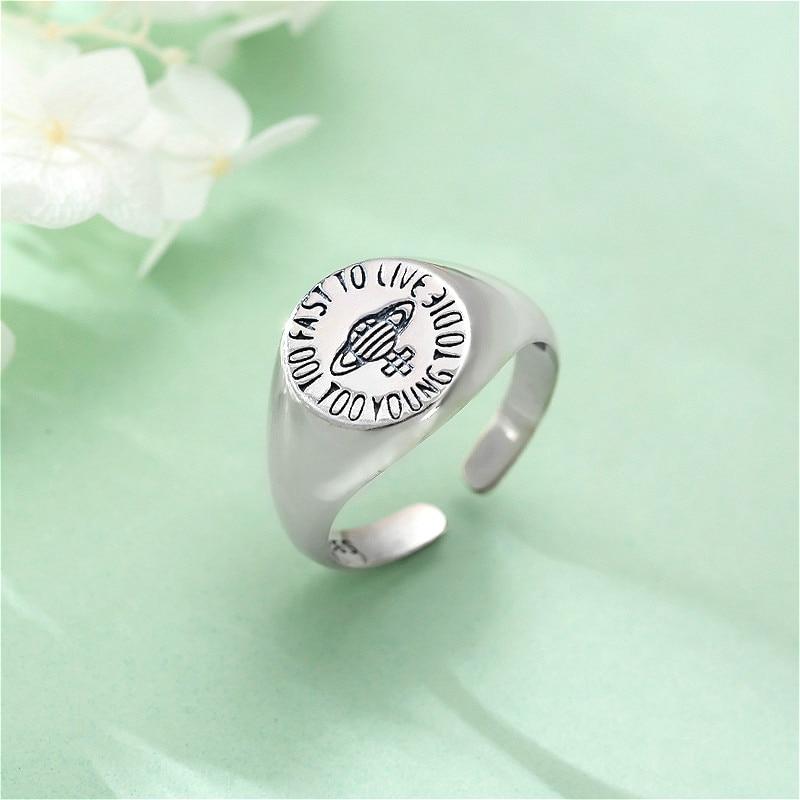 Fengxiaoling New Arrivals S925 Sterling Silver Saturn Open Rings For Women Elegant Jewelry Gift Handmade Bijoux Femme