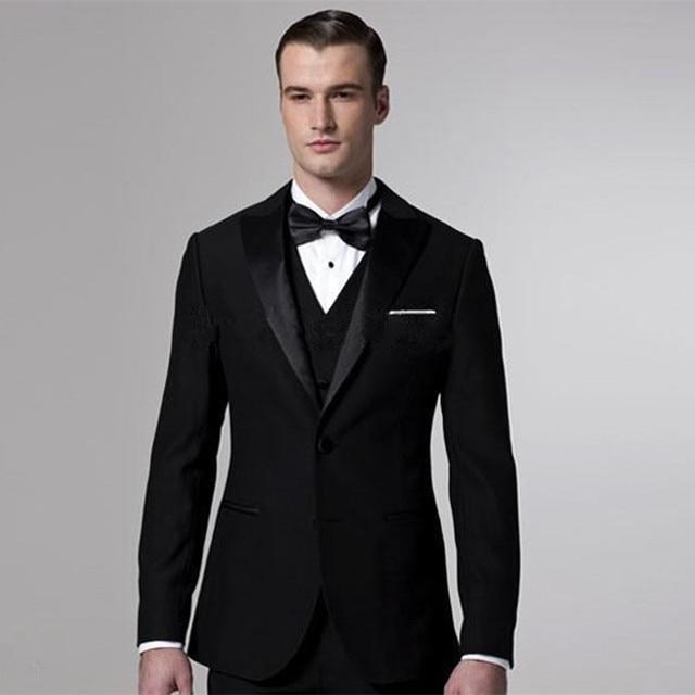 929fd145a373a 2017 trajes de boda negro Venta caliente italiano mens trajes novios  Delgado hombres traje chaqueta +