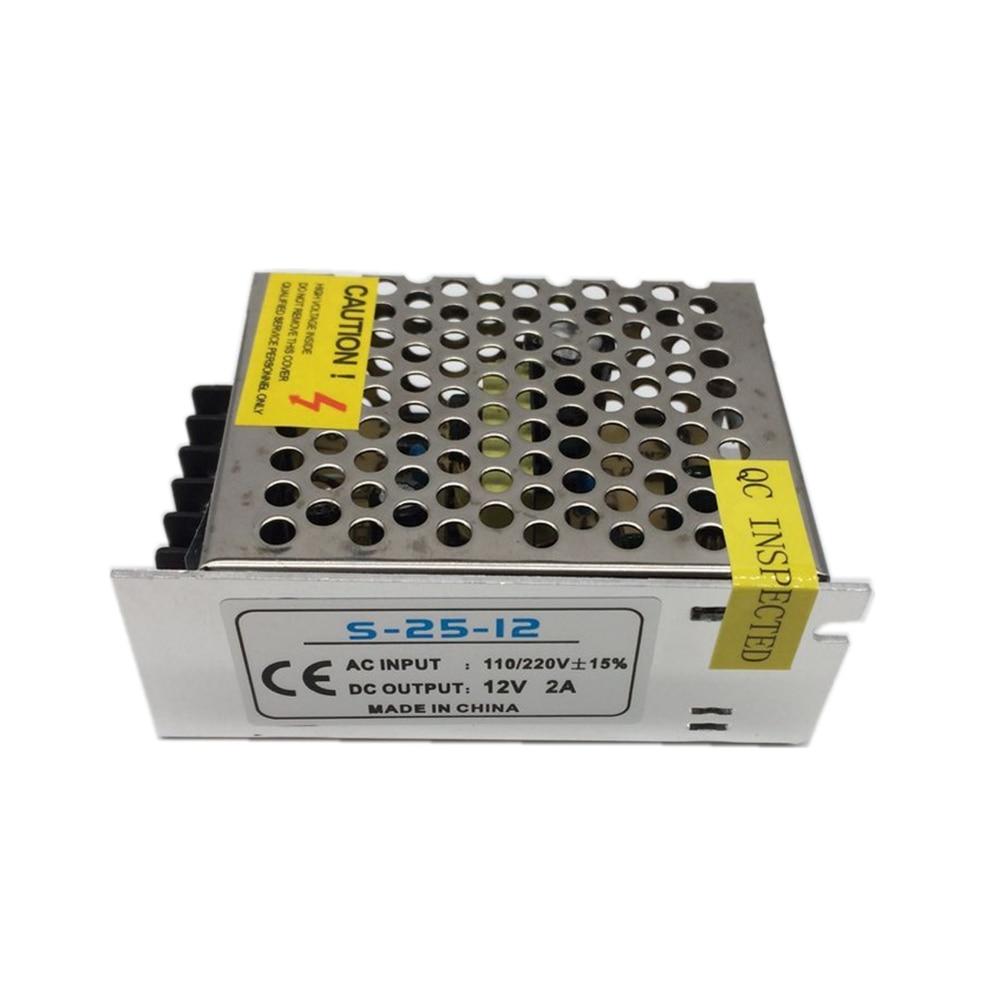 5 PCS 12 V 2A 24 W 110 V-220 V Transformador de Iluminação, de Alta qualidade LED driver para tira CONDUZIDA 3528 5050 fonte de alimentação