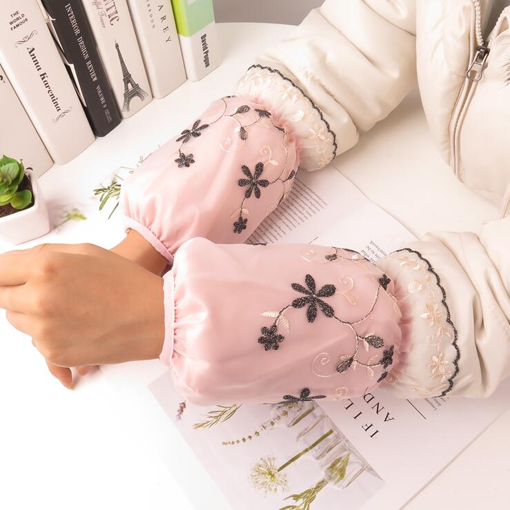 Women's Monolayer Lace Sleeve For Household Use Antifouling Home Cleaning Kitchen Lace Oversleeves Arm Sleeve R236