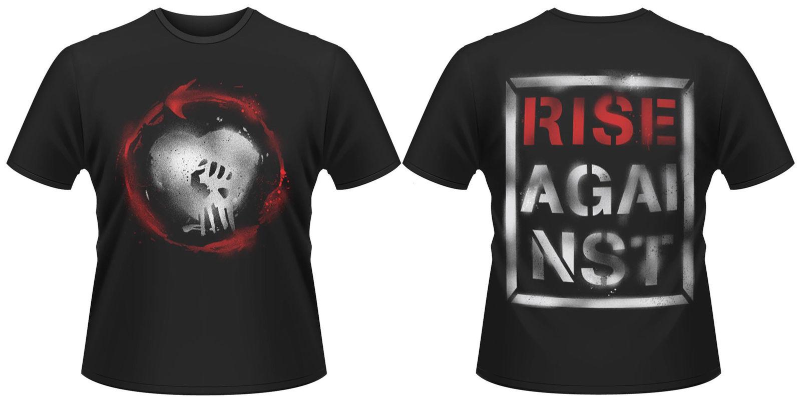 Rise Against CAUTION T-SHIRT - NUOVO E ORIGINALE