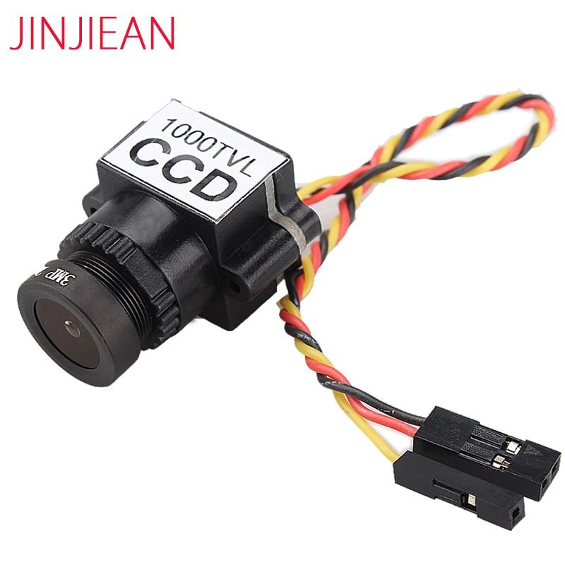 New FPV 1000TVL 1/3 CCD 110 Degree 2.8mm Lens Mini FPV 5-20V Camera NTSC PAL Switchable For FPV Camera Racing Drone