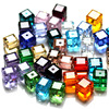 100pcs/Bag 30fa 8x8mm AAA9 Cube Crystal Glass Loose Beads 8mm Multicolors pick AAA Grade