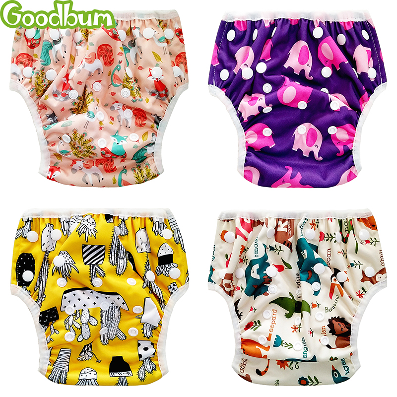 Baby Swim Diaper Waterproof Adjustable Cloth Diapers Goodbum Pool Pant Swimming Diaper Cover Reusable Washable Baby Nappies 2018