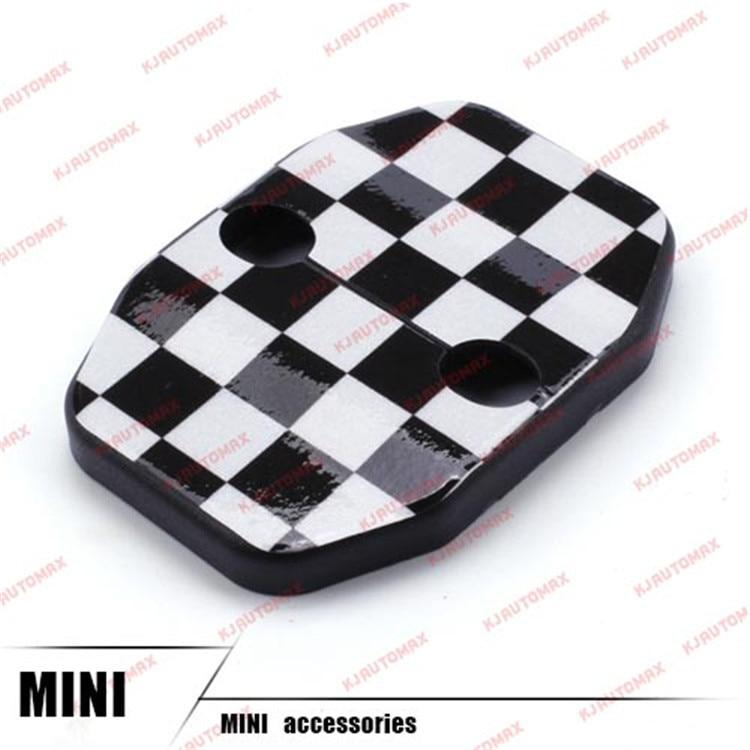 Автомобильный Стайлинг для Mini Cooper F55 F56 дверной замок с пряжкой защитная оболочка персональные аксессуары - Название цвета: checker flag