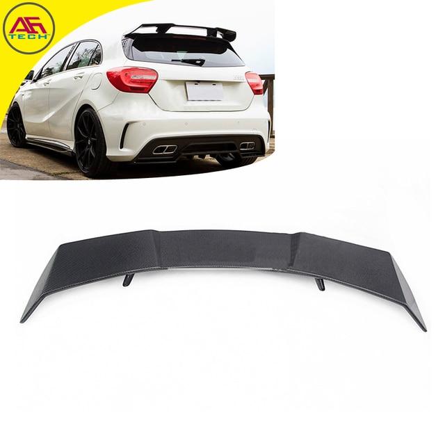 Carbon fiber back door shelter spoiler boot lip spoiler wing rear roof spoiler wing for Mercedes-Benz A class A260 A250 A45