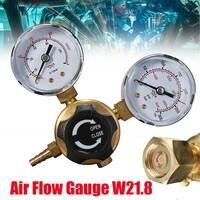 ミニアルゴンco2ガスボトル圧力レギュレータmig tig溶接流量計ゲージW21.8 1/4スレッド0〜20 mpa
