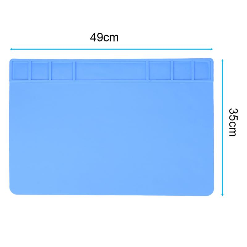 49x35cm Heat Insulation Silicone Pad Desk Mat Heat-resistant Maintenance Platform For BGA Soldering Repair Station 2 Colors цены онлайн