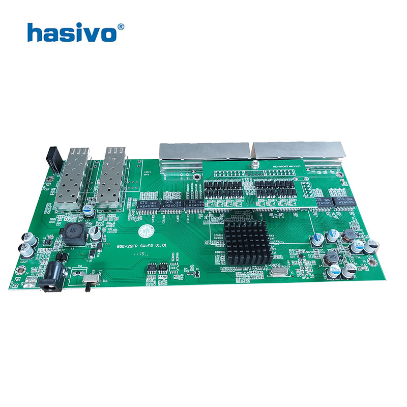 Image 2 - Reverse  PoE switch  8x10M/100M/1000M Port & 2 SFP  Gigabit Ethernet switch  PCB motherboard-in Network Switches from Computer & Office