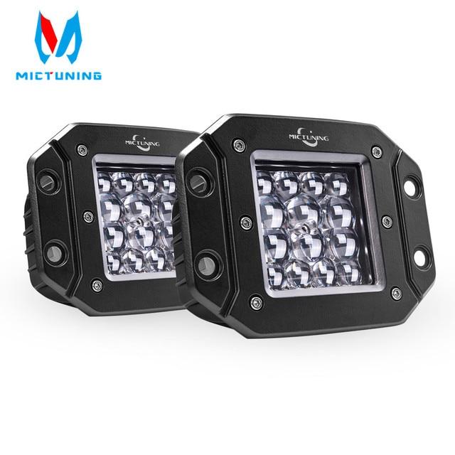 """MICTUNING 2 sztuk 5 """"42W LED światła wiązka punktowa dla Philips chip listwa świetlna LED światła do jazdy wodoodporna robocze Led światła przeciwmgielne do ciężarówki"""