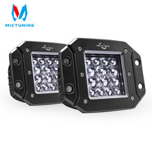 Mictuning 2pcs 5 42W LED Light Spot Beam for Philips chip Bar Driving Lights Waterproof Led Work Fog Truck