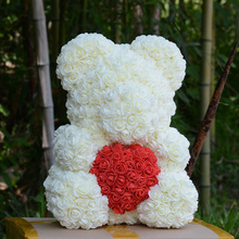 Hug Bear Eternal Roses Manual  Make ValentineS Day Gifts Durable Preservation Delicate Beautiful Immortal Flower