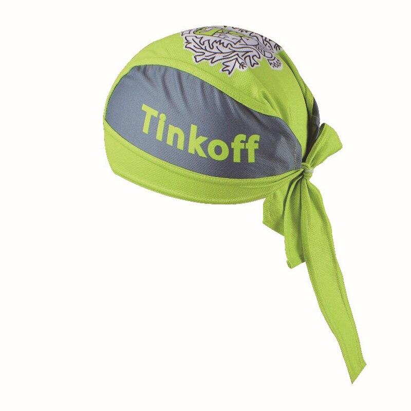 Prix pour Loyoo Vélo Couvre-chef Tinkoff Pro Équipement D'équitation De Bicyclette De Vélo Sport Chapeaux Lunette SAXO Tête Écharpe Couleur Vert