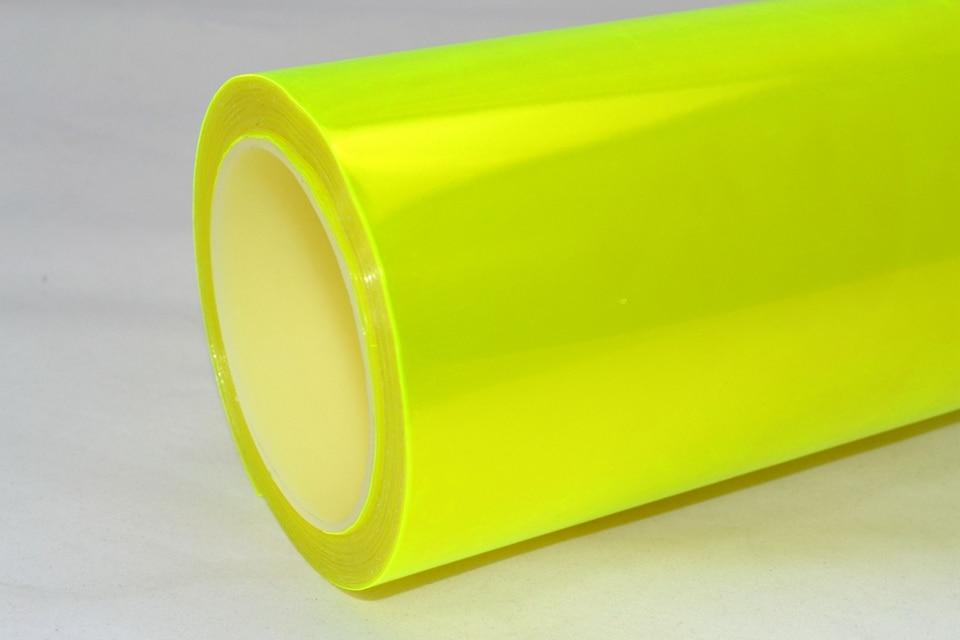 Image 3 - Fluorescent yellow Auto Car Headlight Tint Vinyl Film Sheet Sticker Car Smoke Fog Light Headlight 0.3*10m Roll-in Car Stickers from Automobiles & Motorcycles