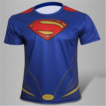 [Magic] Europe and America hot tops Super heroes 3d Men short sleeve Mesh T-Shirt Sweat tshirts casual t shirt free ship