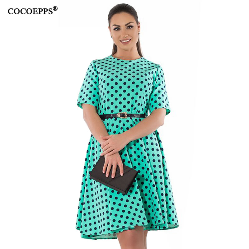 f4c7c4688271 2019 Plus Large Size 6XL Women s Dress Loose Business Office Ladies Dresses  2019 Fashionable Knee-