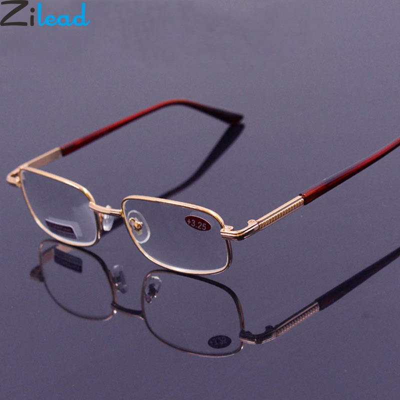 Homens Óculos de Leitura De Vidro Zilead Eyewear0.5 Presbiopia 0.75 1.0 1.25 1.5 2.0 2.25 2.5 2.75 3.0 3.25 3.5 3.75 4.0 4.5 5.0 Unisex