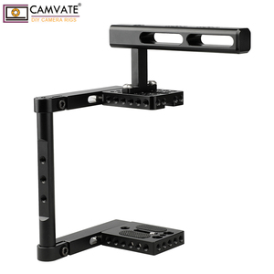 Image 5 - CAMVATE Aluminum Alloy Camera Generic Cage Rig With Top Handle For DSLR Camera Stable Support System Photography Accessories New