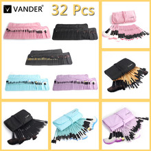 VANDER Professional 32 pcs Makeup Brush tools For Women Soft Face Lip Eyebrow Shadow Make Up Brush Set Kit + Pouch Bag maquiagem