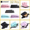 VANDER ferramentas Profissional 32 pcs Pincel de Maquiagem Para As Mulheres de Rosto Suave lábio Sobrancelha Sombra Make Up Brush Set Kit + Bag Bolsa maquiagem