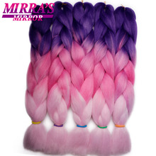 Mirra's Mirror Ombre Jumbo Braid Hair Crochet Hai
