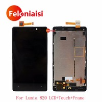 5Pcs Lot 4 3 For Nokia Lumia 820 RM 878 Full Lcd Display With Touch Screen