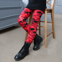 Thick Warm Elastic Waist Cotton Leggings Girl Pants Trousers Teenage Girls Leggings Camouflage Pants Girls Cashmere