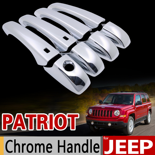For Jeep Patriot 2007 2017 Chrome Handle Cover Trim Set Liberty Russia 2008 2009 Car Accessories Styling