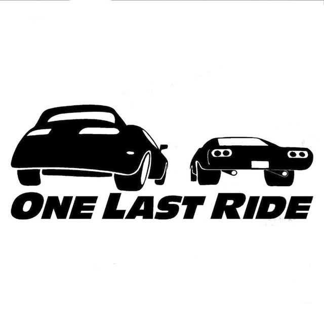 15 3cm 5 8cm Fast And Furious 7 Suppa Ecal Car Sticker Paul Walker Motorcycle Decorating C8 0067