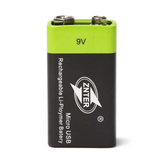 ZNTER Ultra-Efficient 9V 400mAh USB Rechargeable 9V Lithium Polymer Battery For RC Camera Drone Accessories 4