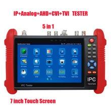 Libera shiping Novo Produto Pro Segurança 5 em 1 TVI AHD IPC IPC CVI CCTV TESTER 7 POLEGADAS Touch Screen Câmera de Vídeo PTZ Tester