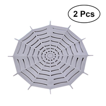 2pcs Spider Web Shaped Sink Strainer Kitchen Bathroom Garbage Mesh Filter Sewer Drain Net (Grey)