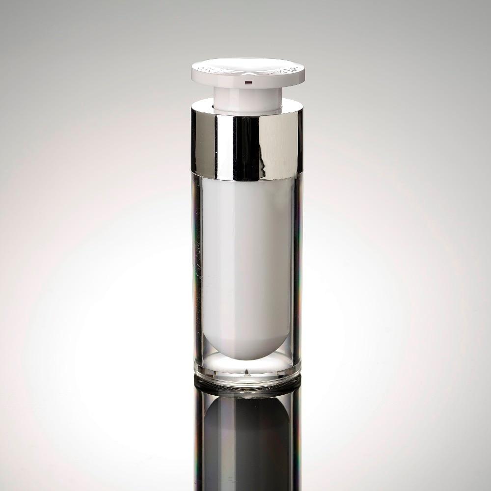 30ml zárófej akril levegőmentes vákuumszivattyú krém palack, amelyet szérum / krém / emulzió / alapozó kozmetikai tartályhoz használnak