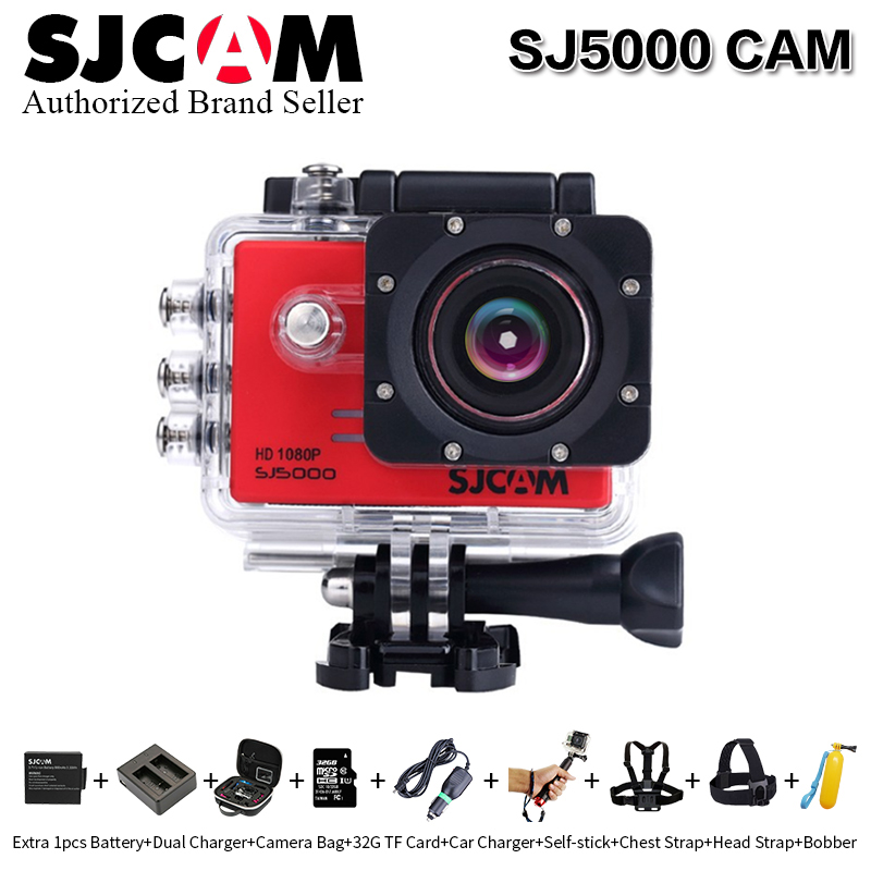 Original SJCAM SJ5000 Action Sport Camera Notavek 96655 1080P full HD Waterproof Camera with more camera accessories to choose sjcam sjcam sj5000 wifi 96655 full hd 1080p