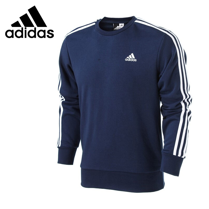 Original New Arrival 2018 Adidas Performance ESS 3S CREW FT Men's Pullover Jerseys Sportswear купить недорого в Москве