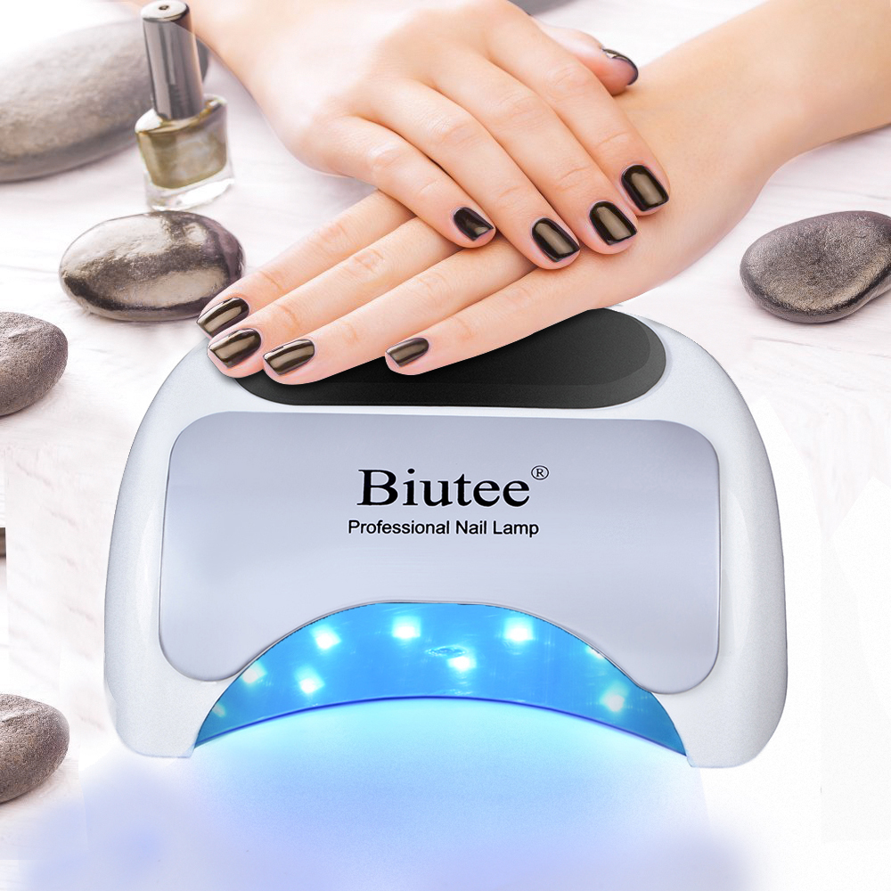 Biutee Prowerful 48W LED Lamp Nail Dryer For Nail Gel Polish Curing LED Nail Lamp Dryers Art Manicure Automatic Sensor Nail Tool biutee professional 48w uv led nail lamp dryer for nail gel polish curing art manicure automatic sensor nail tools
