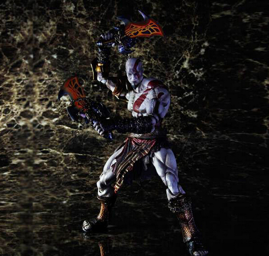 ФОТО Wholesale 16pcs game character pvc God of War3 PA  Kratos action figure toy tall 27cm in box hot sell.
