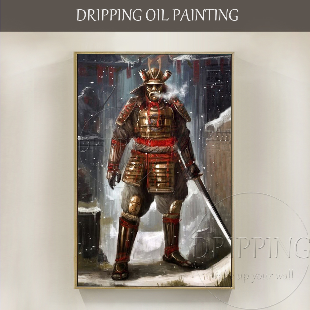 Wall Art Hand-painted Japanese Samurai Swordsmen Figure Oil Painting on Canvas Hand-painted Wall Art Samurai Swordsmen PaintingWall Art Hand-painted Japanese Samurai Swordsmen Figure Oil Painting on Canvas Hand-painted Wall Art Samurai Swordsmen Painting
