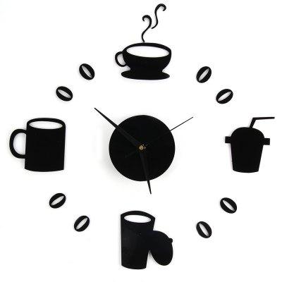 new fashion orologi da parete della cucina fai da te home decor grande tazza di caff