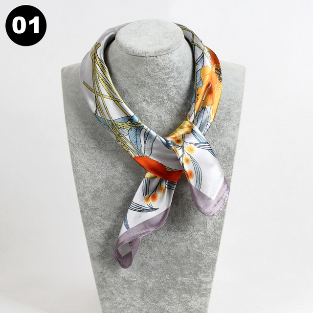 Scarves Print Twill Square...