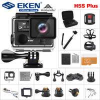 """EKEN H5S Plus kamera akcji HD 4K 30fps EIS z chipem Ambarella A12 wewnątrz 30m wodoodporna kamera sportowa z ekranem dotykowym 2.0"""""""