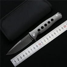 Russian Dr Death Mayo ceramic bearing Folding Knife D2 blade Titanium handle Camping Hunting Survival Knives Outdoor EDC Tool