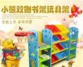 Estante estante prateleira de brinquedos dos desenhos animados das crianças do agregado familiar combinação simples prateleiras rack de armazenamento de rack de armazenamento de brinquedo de plástico