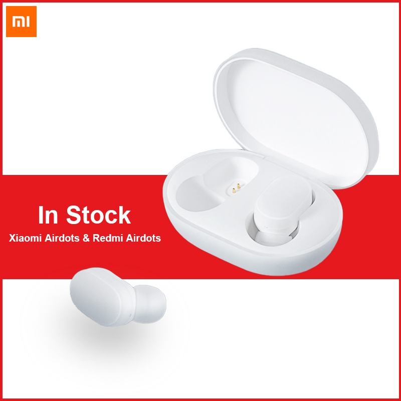 100% Original Xiaomi AirDots Bluetooth Earphone MI Redmi airdots Mini Wireless Bluetooth 5.0 Stereo Headset With Mic Earbuds