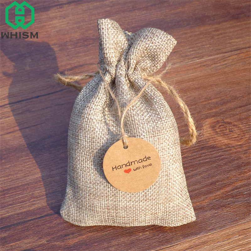 WHISM 100pcs Kraft Paper Gift Tags Jewelry Packing Label Luggage Blank Card Hanging Bookmarks Flower Gift Tag for Wedding Party