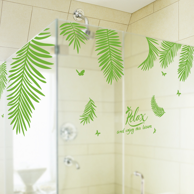 Shijuehezi Customized Palm Tree Leaves Wall Sticker Vinyl Diy Handmade Hawaii Tropical Mural Art