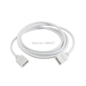 Image 3 - 1 20pcs White / Black Female LED Strip Cable Connector 4Pin Extension Wire 30cm 50cm 1m 2m 3m 5m For 3528 5050 RGB LED Strips