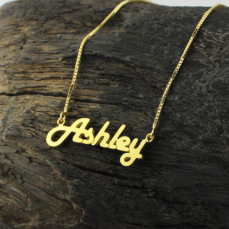 Personalized Gold Pendant Personalized gold color name necklace letter necklace retro stylish personalized gold color name necklace letter necklace retro stylish name jewelry for woman valentines day gift in pendant necklaces from jewelry audiocablefo